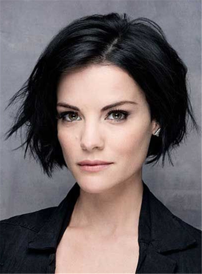 Short Hairstyles 2017 2018: Short Straight Lob Side Swept Fringes Hairstyle Lace Front