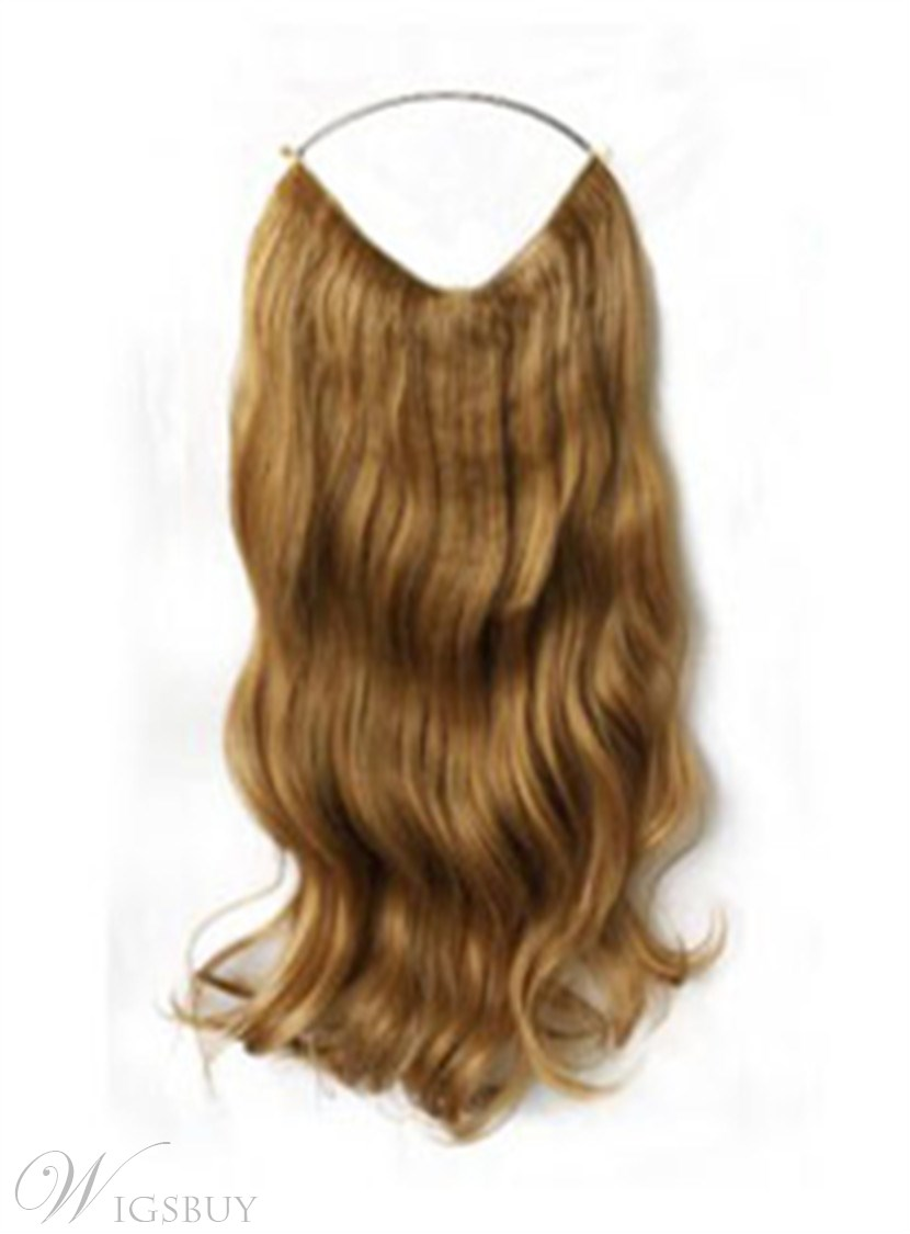 new elegant wavy 100 human hair flip in hair extension. Black Bedroom Furniture Sets. Home Design Ideas