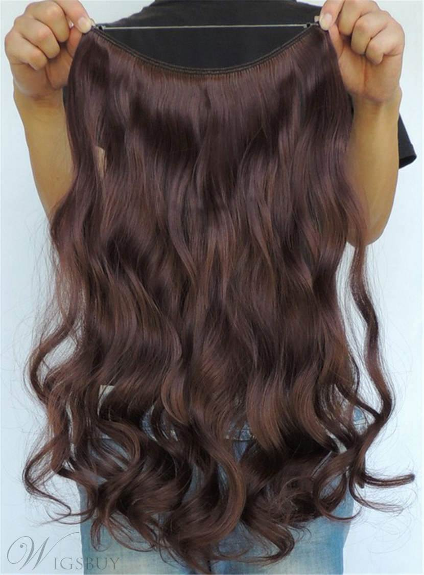 Charming Wavy Human Hair Flip In Hair Extension 16 Inches 26 Inches