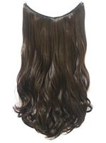 Medium Brown #6 Wavy 100% Human Hair Flip In Hair Extensions (Free Shipping)