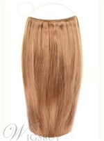 Golden Brown Straight Human Hair Flip In Hair Extension