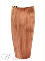 Light Auburn Straight Human Hair Flip In Hair Extension