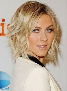 Short Wavy Layered Synthetic Hair Lace Front Wig 12 Inches