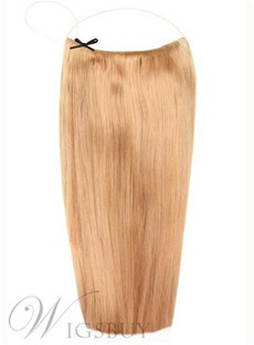 Light Golden Brown Human Hair Flip In Hair Extension
