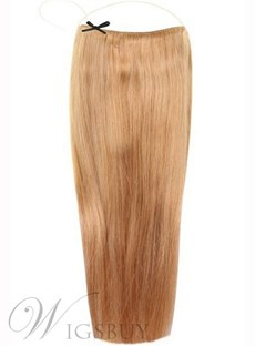 Strawberry Blonde Smooth Straight 100% Human Hair Flip In Hair Extension