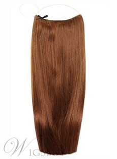 Light Brown Smooth Straight 100% Human Hair Flip In Hair Extension