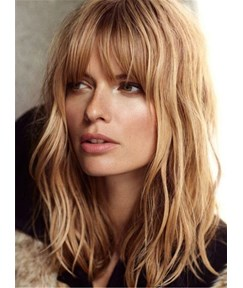 Charming Long Layered Loose Wave Celebrity Hairstyle Human Hair Capless Wig 18 Inches