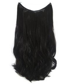 Natural Black #1 Wavy 100% Human Hair Flip In Hair Extensions (Free Shipping)