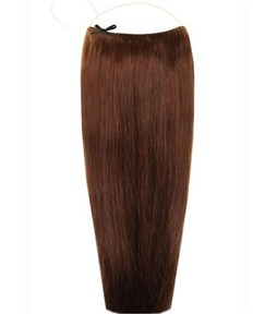 Choc Brown Smooth Straight Human Hair Flip In Hair Extension