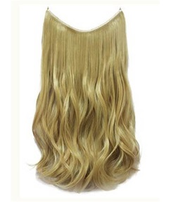 Honey Blonde Wavy Human Hair Flip In Hair Extensions