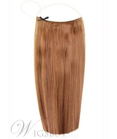 Chestnut Straight Human Hair Flip In Hair Extension