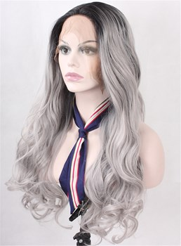 Fascinating Sexy Long Wavy Lace Front Wig Synthetic Hair 24 Inches