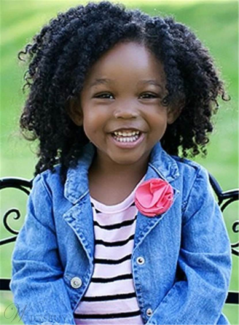 Cute Kinky Curly Short Human Hair Lace Front Cap Wigs 10