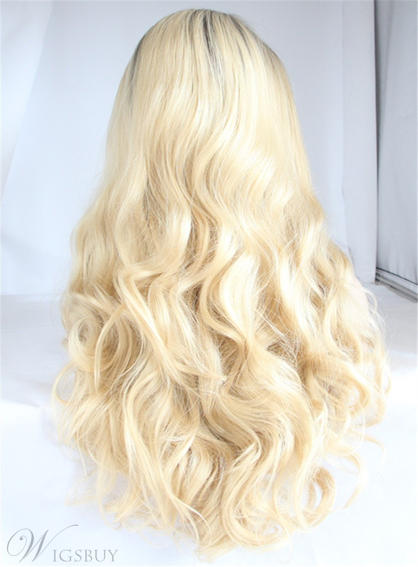 Long Natural Wavy Hairstyle Synthetic Hair Lace Front Wig