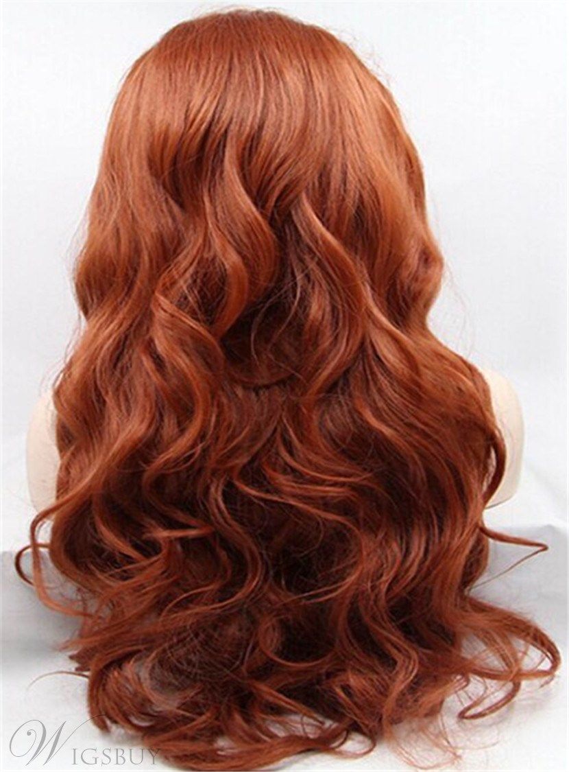 Sexy Fascinating Amazing Long Loose Wavy Synthetic Hair Lace Front Wigs 22 Inches