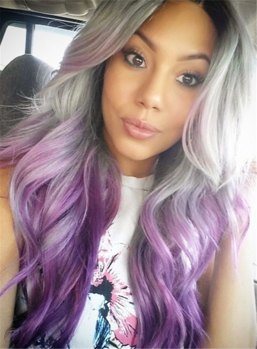 Attractive Boutique Long Wave Lace Wig Synthetic Lace Front Hair Wigs 22 Inches