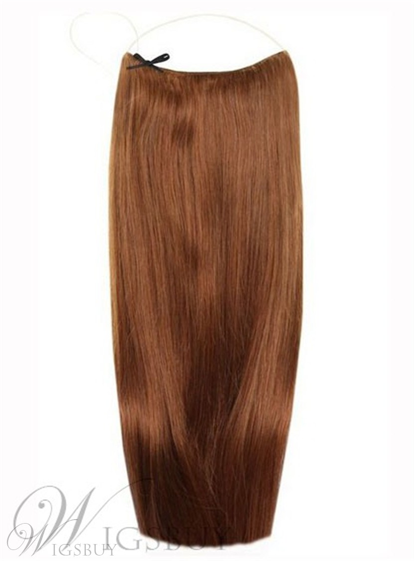 Light Brown Smooth Straight 100 Human Hair Flip In Hair Extension