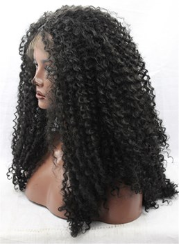 Density Beautiful Long Afro-curly Lace Front Synthetic Hair Wig 20 Inches