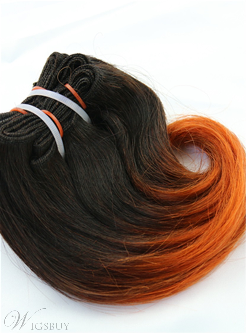 1B/350 Short Straigth Human Hair Weave Hair Extension 8 Inches