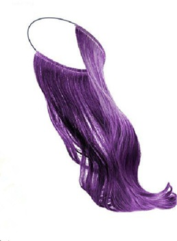 Synthetic Colorful Flip In Hair Extension 14 Inches