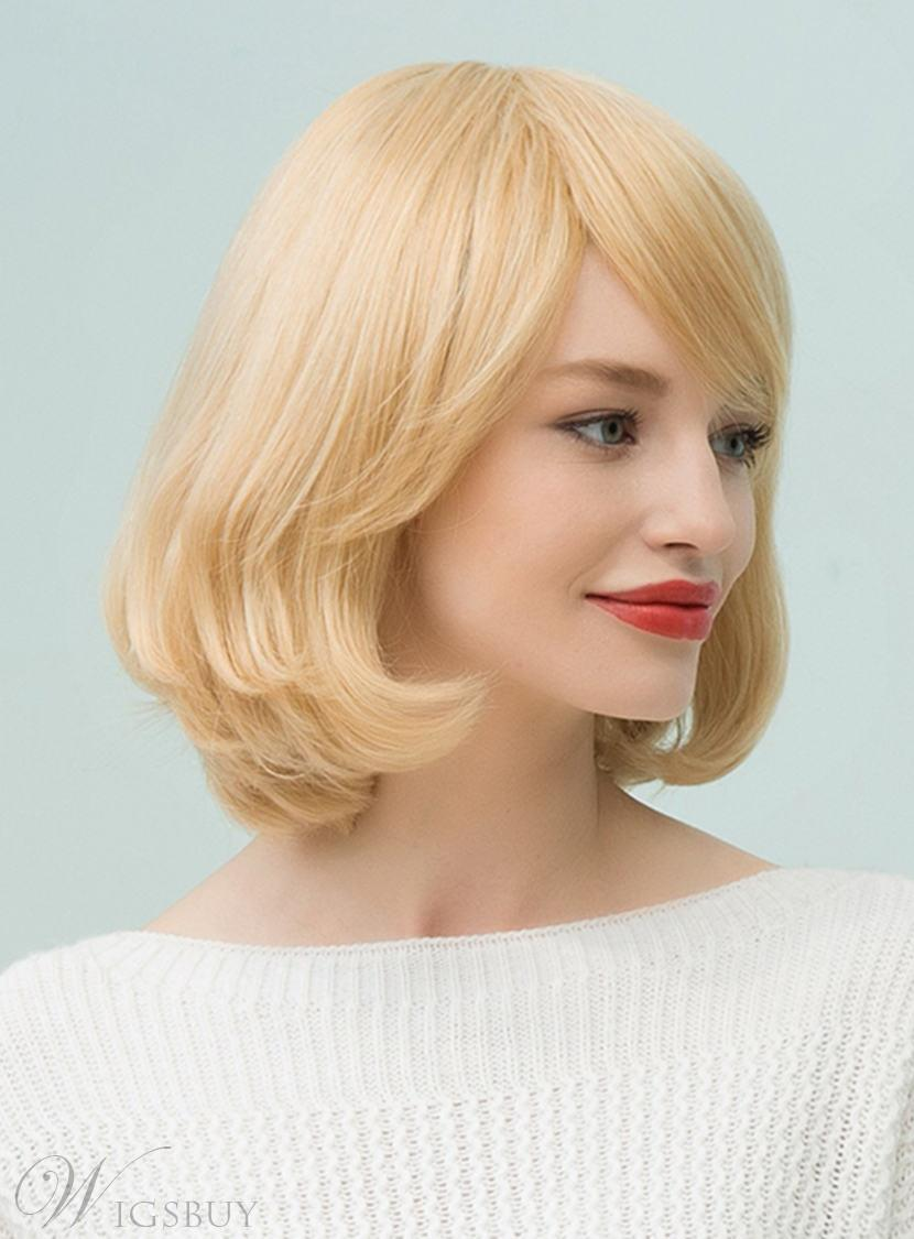 to bob haircut mishair 174 bob medium human hair with bangs capless 6299