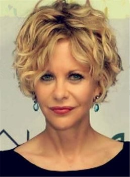 Short Blonde Wavy Layered Lace Front Synthetic Hair Wig 8 Inches