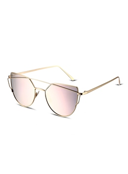 Oval Bronze Framework Sunglasses