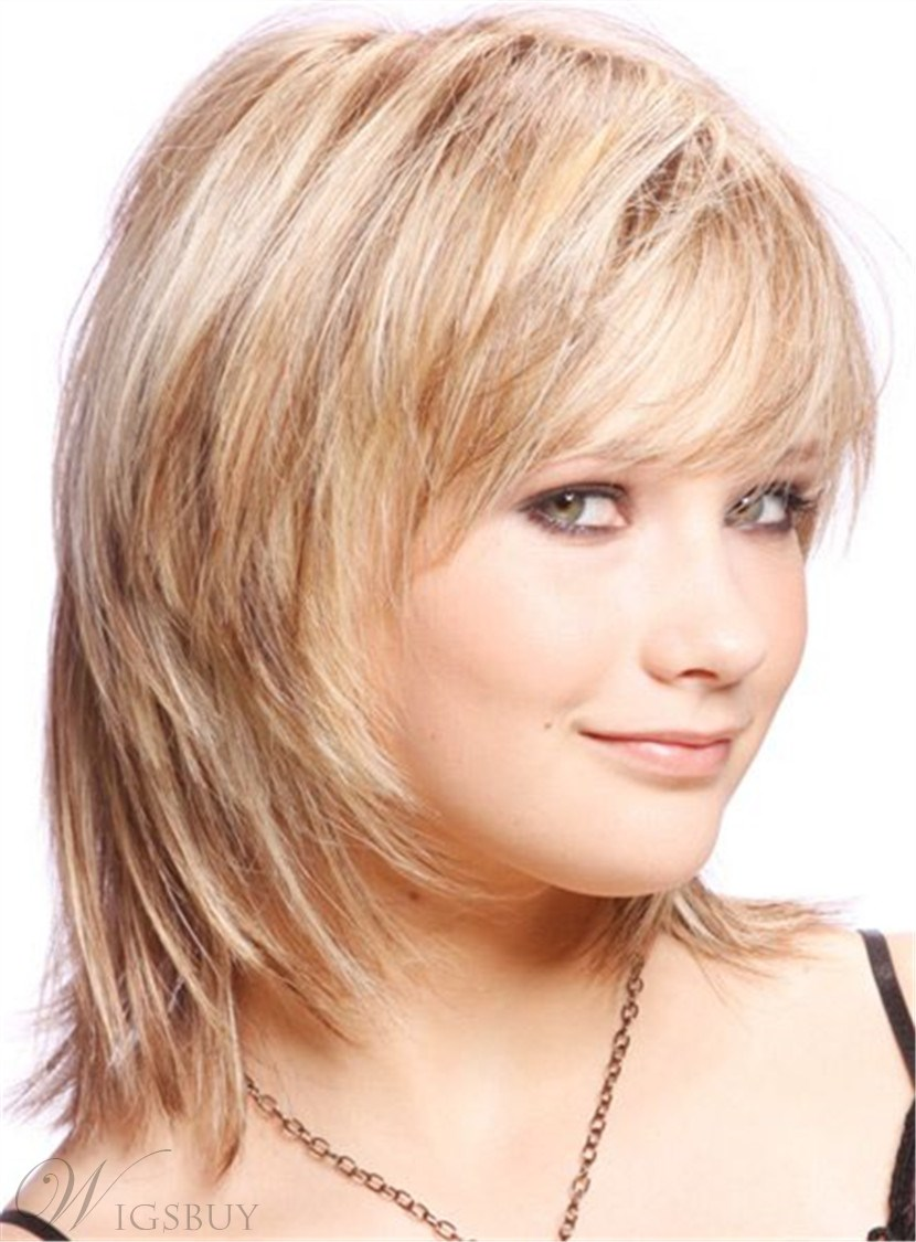 Cute Short Layered Blonde Haircut Synthetic Hair Capless Wigs 10 Inches 12755901