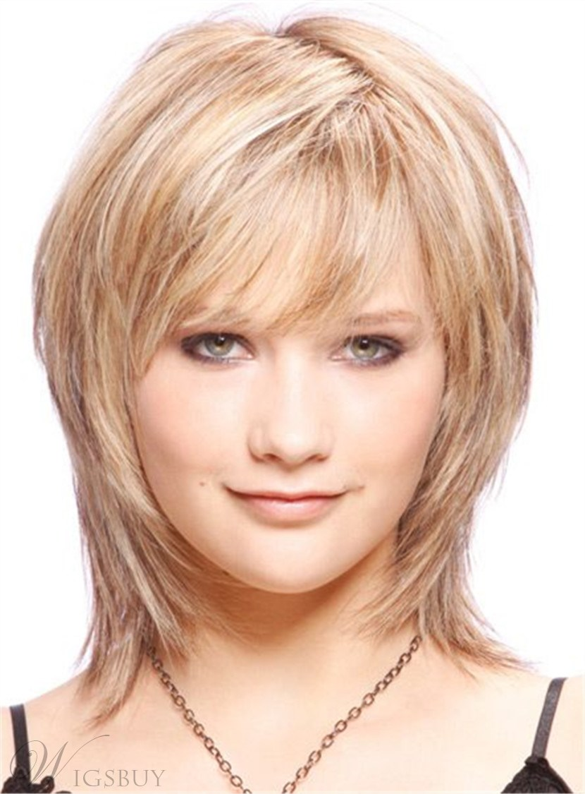 Cute Short Layered Blonde Haircut Synthetic Hair Capless Wigs 10 Inches