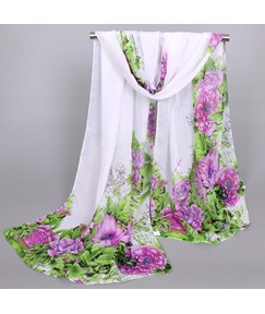 Beautiful Peony Printed Women's Scarf