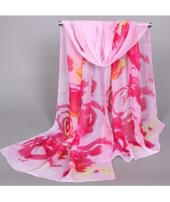 High Quality Colorful Printed Chiffon Scarf