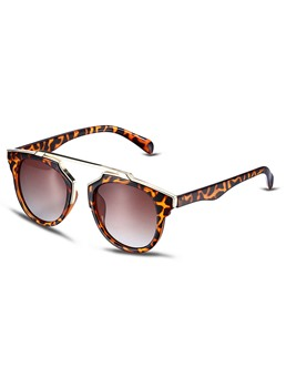 Vogue Leopard Printed Frame Resin Polarized Sunglasses