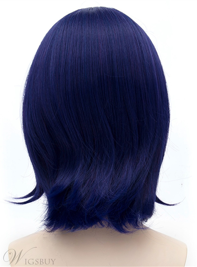 Tenryu Cosplay Blue-Purple Short Straight Wig 12 Inches