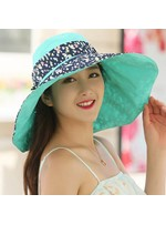 Flowers Printed Anti-UV Cotton Foldable Sun Hat