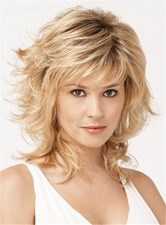 Pixie Haircut Short Wavy Side Bangs Synthetic Hair Capless Wig 12 Inches