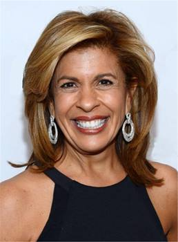 Hoda Kotb Layered One Side Part Synthetic Hair Lace Front Cap Wigs