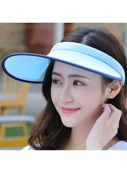 Visor Crown Design Wide Brim Sunscreen Hat