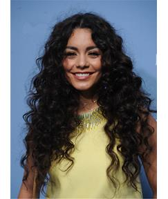Vanessa Hudgens Natural Messy Long Curly Center Part Synthetic Hair Lace Front Cap Wigs 24 Inches