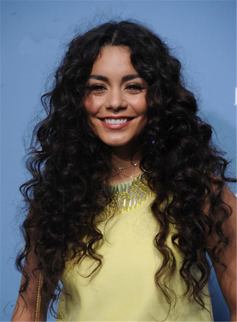 Vanessa Hudgens Natural Messy Long Curly Center Part