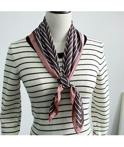 OL Stripe British Style Fashion Square Scarf