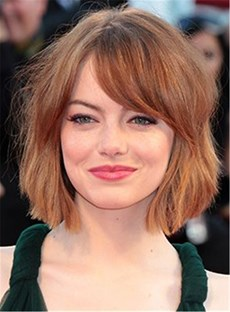 Short haircuts for black women with round faces wigsbuy emma stone bob haircut straight human hair capless wig 10 inches winobraniefo Images
