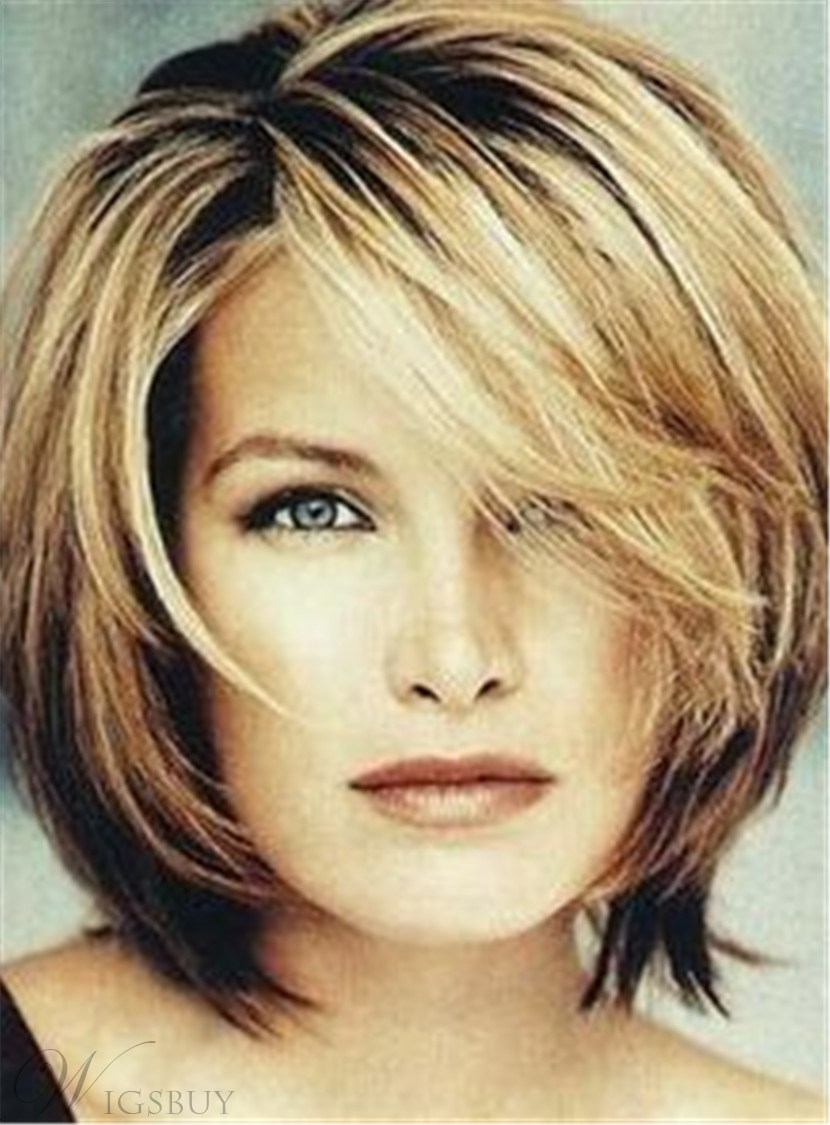 Synthetic Pixie Haircut Short Straight Capless Wigs 12 Inches