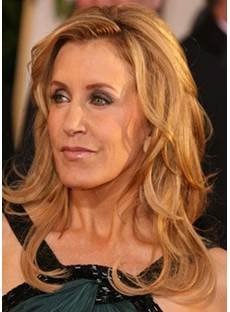 Felicity Kendall Huffman Layers Big Wave Mid-length Synthetic Lace Front Cap Wigs 16 Inches