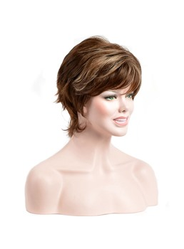 Short Straight Synthetic Hair Capless Wigs 6 Inches