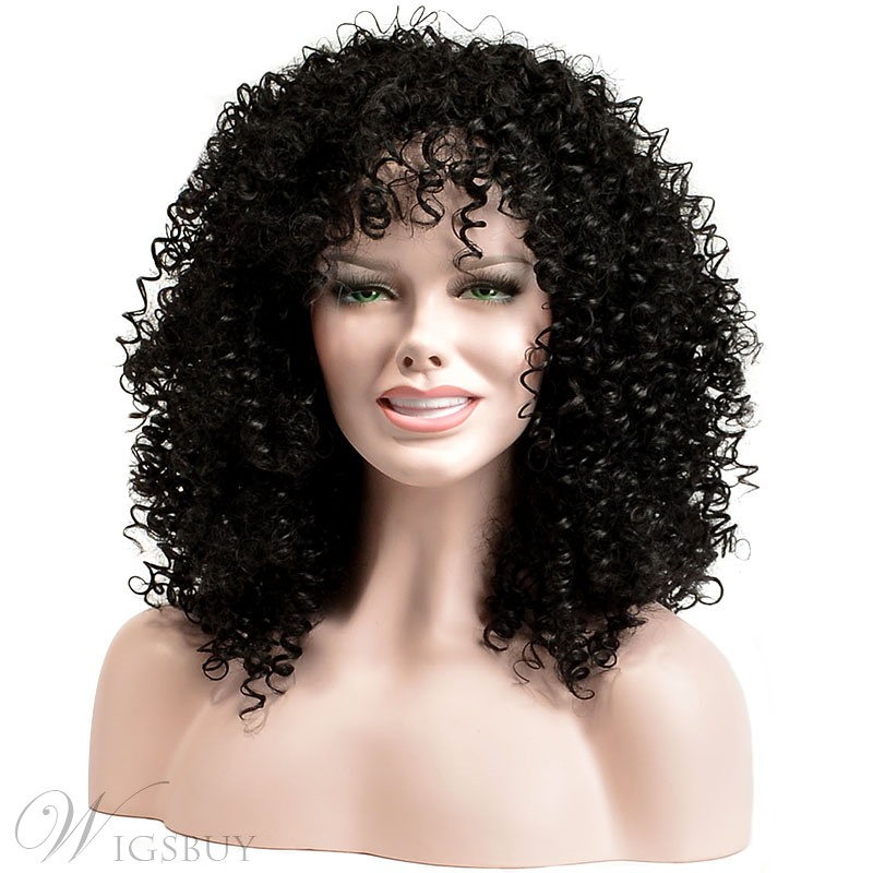 Coscoss 174 African American Medium Curly Capless Synthetic
