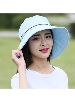 Solid Color Foldable UV Protection Sun Hat