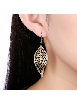 Romantic Hollow Leaf-Shaped Women's Earrings