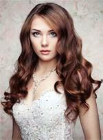 Natural Long Wavy Lace Front Cap Synthetic Hair Women Wigs 22 Inches