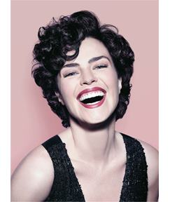 Ana Paula Arósio Short Messy Synthetic Hair Loose Curly With Bangs Capless Cap Wigs 6 Inches