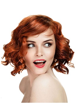 Deluxe Cheap Short Loose Wavy Synthetic Hair Women Wigs 10 Inches